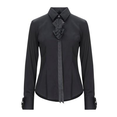 CAMICETTASNOB シャツ ブラック 40 コットン 75% / ナイロン 23% / ポリウレタン 2% シャツ
