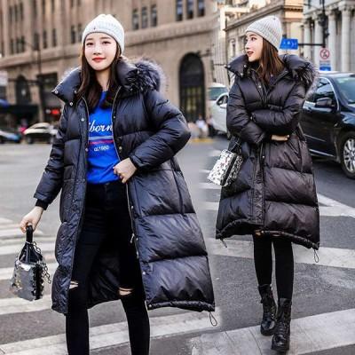 『暖かい冬物』レディース  体系カバー 暖かい 軽い  BIGファー 中綿コート ダウンジャケット  ダウンコート ロングコート 中綿ジャケット アウター