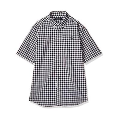 [フレッドペリー] 半袖シャツ 2 COLOUR GINGHAM SHIRT M8569 メンズ 100_WHITE UK S (日本サイズM相当)