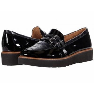 Naturalizer ナチュラライザー レディース 女性用 シューズ 靴 ローファー ボートシューズ Eiffel Black Patent【送料無料】