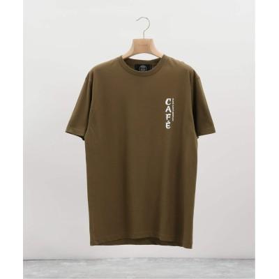 エディフィス 【Paris Saint-Germain / パリサンジェルマン】 CAFE LOGO Tシャツ カーキ S