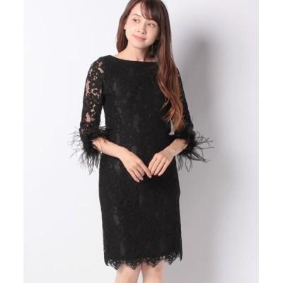 La Festa chic/ラフェスタシック ラッセルレース 袖付ドレス ブラック 13