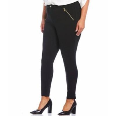 カルバンクライン レディース カジュアルパンツ ボトムス Plus Size Compression Zip Pocket Ponte Pants Black
