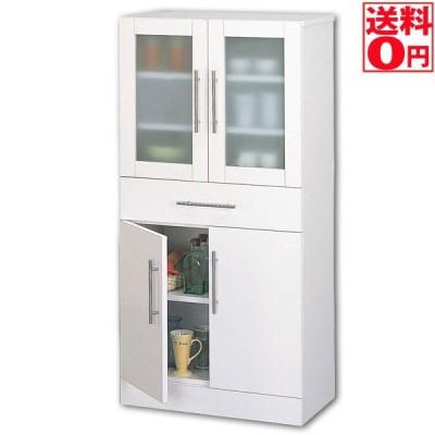 カトレア食器棚60-120 ホワイト 23463