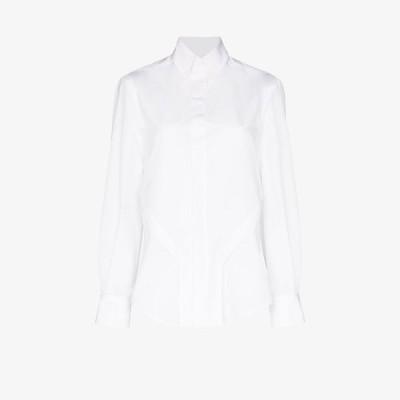 ジルヴァー Zilver レディース ブラウス・シャツ トップス organic cotton shirt white