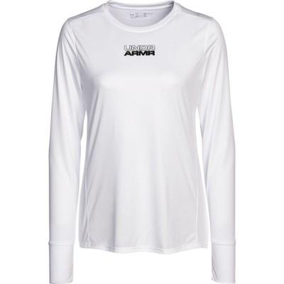 アンダーアーマー Under Armour レディース トップス Long Sleeve Shooting Shirt White/Mod Gray