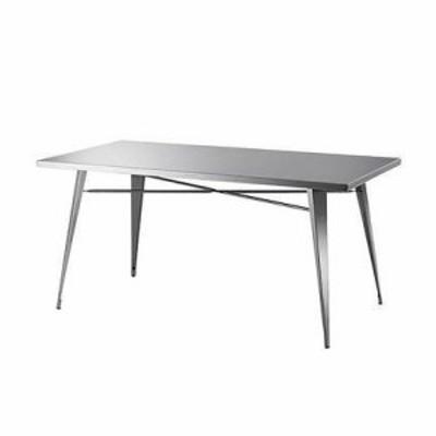 ダイニングテーブル 幅151×奥行81.5×高さ72 ステンレス(代引不可)【送料無料】