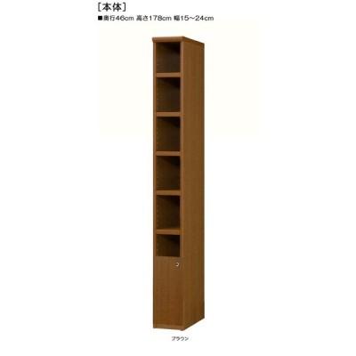 下部扉 隙間収納 高さ178cm幅15〜24cm奥行46cm厚棚板(棚板厚み2.5cm) 下扉高さ41.5cm 付録ディスプレイ 台所