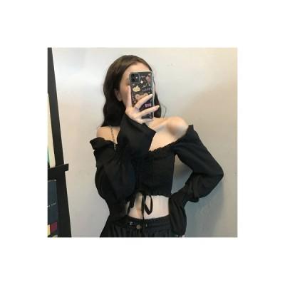 【送料無料】秋服 年 女 小 心 機 単語 肩 ロック 骨 長袖シャツ 引きひも 折 | 364331_A63665-8866141