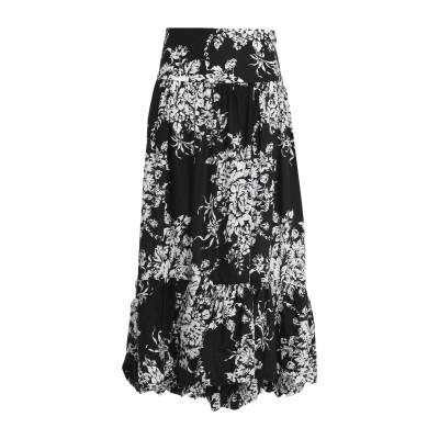 ソニア リキエル SONIA RYKIEL 7分丈スカート ブラック 38 コットン 100% 7分丈スカート