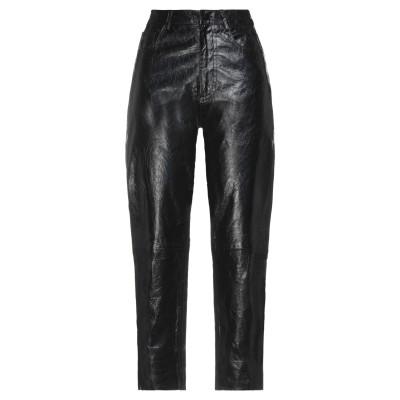ドローム DROMe パンツ ブラック S 羊革(ラムスキン) 100% パンツ