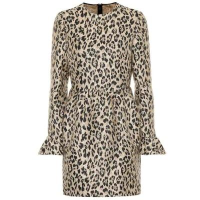ヴァレンティノ Valentino レディース ワンピース ワンピース・ドレス Leopard brocade dress Wild Leopard