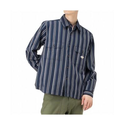 (MAC HOUSE(men)/マックハウス メンズ)Dickies ディッキーズ ストライプワークシャツ 0470-6402/メンズ ネイビー