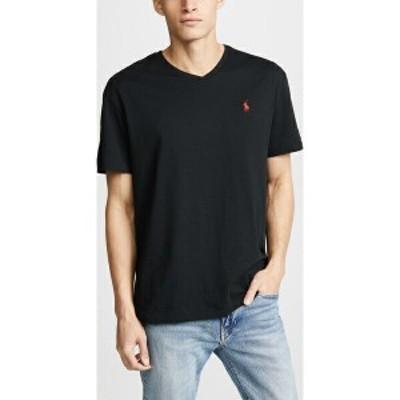 (取寄)ポロ ラルフローレン V ネック クラシック フィット ティー シャツ Polo Ralph Lauren V Neck Classic Fit Tee Shirt PoloBlack
