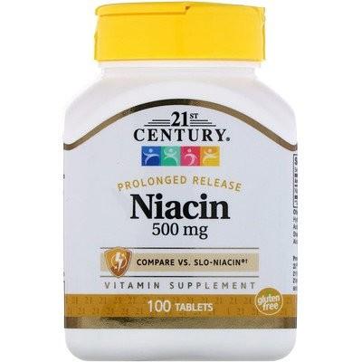 ナイアシン、 プロロングドリリース、 500 mg、 100 タブレット