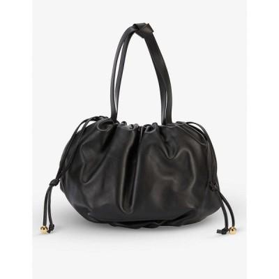 ボッテガ ヴェネタ BOTTEGA VENETA レディース ショルダーバッグ バッグ The Medium Bulb leather shoulder bag BLACK GOLD