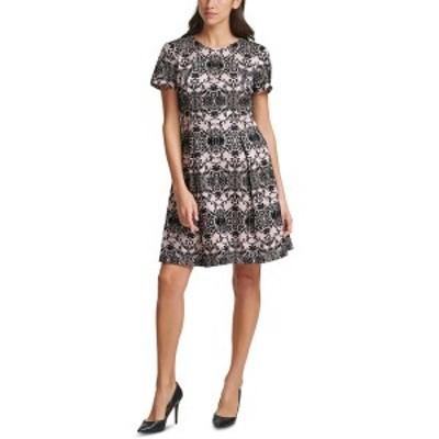 ヴィンスカムート レディース ワンピース トップス Flocked Fit & Flare Dress Blush