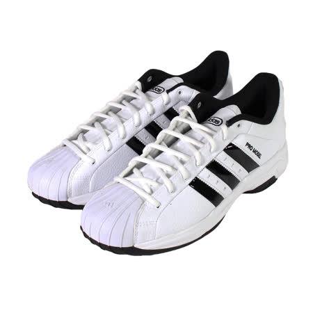 ADIDAS 男女 PRO MODEL 2G LOW 貝殼頭復古皮革休閒籃球鞋 白黑 - FX4981