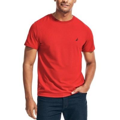 ナウティカ シャツ トップス メンズ Men's Solid T-Shirt Nautica Red