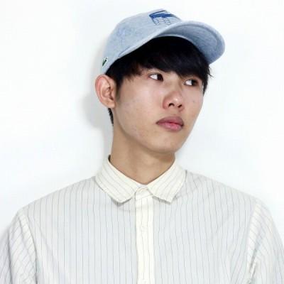 春 夏 キャップ ロゴプリント LACOSTE コットン 日本製 メンズ レディース CAP ラコステ 帽子 青 ブルー 父の日