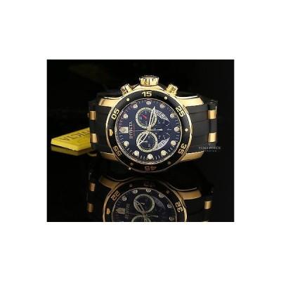 インヴィクタ 腕時計 Invicta メンズ 6981 Pro Diver クロノグラフ ブラック ダイヤル イエロー ゴールド 腕時計