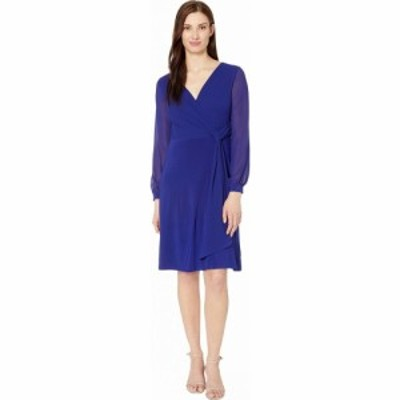 ラルフ ローレン LAUREN Ralph Lauren レディース ワンピース ワンピース・ドレス Cooper Long Sleeve Day Dress Cannes Blue