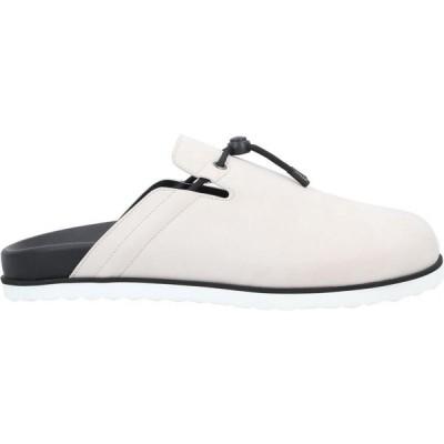 ブシェミ BUSCEMI メンズ シューズ・靴 mules and clogs Light grey