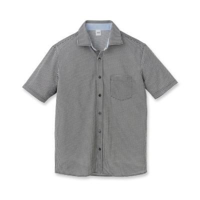 TAKEO KIKUCHI(タケオキクチ)【Sサイズ〜】千鳥プリント フルオープンジャージシャツ