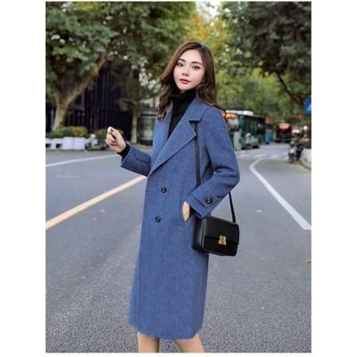 安いのに高く見える 韓国ファッション おしゃれな 新品 秋冬物 早い者勝ち スリムフィット 高品質 中長セクション チェスターコート