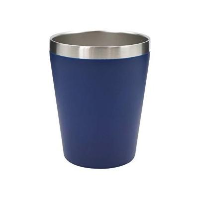 真空断熱 ステンレスタンブラー 360ml 保温 保冷 二重構造 コンビニコーヒーカップ マグ マットブルー