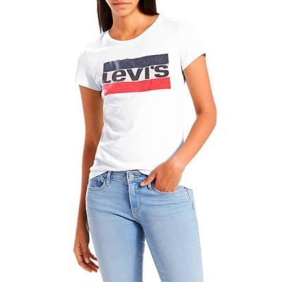 リーバイス レディース Tシャツ トップス Slim Crew Neck Sportswear Logo Graphic T Shirt