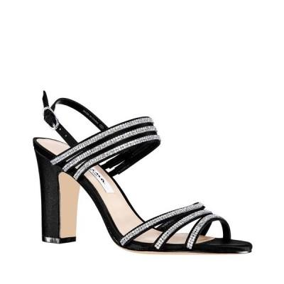 ニナ サンダル シューズ レディース Shandra High Block Heel Sandals Black