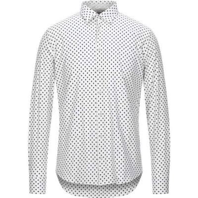 センス SSEINSE メンズ シャツ トップス patterned shirt White