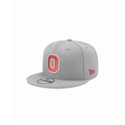 ニューエラ レディース 帽子 アクセサリー Ohio State Buckeyes Core 9FIFTY Snapback Cap Gray