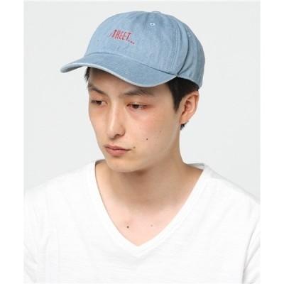 帽子 キャップ ロゴ入りデニムキャップ