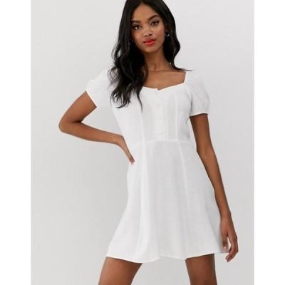 ニュールック レディース ワンピース トップス New Look prairie dress in white