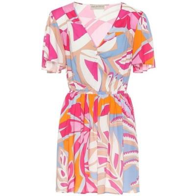 エミリオ プッチ Emilio Pucci Beach レディース ワンピース ワンピース・ドレス printed minidress Fuxia/Azzurro