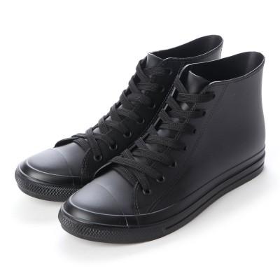 ブラッチャーノ Bracciano レインスニーカー メンズ ハイカットシューズ 防水雨靴(BLACK)