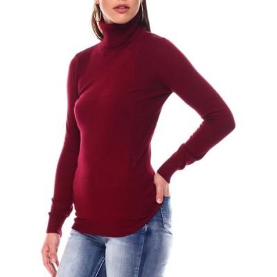 ファッションラボ Fashion Lab レディース ニット・セーター タートルネック トップス turtleneck sweater Burgundy