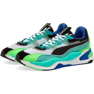 プーマ Puma メンズ スニーカー シューズ・靴 rs-2k internet exploring Black/Aruba Blue