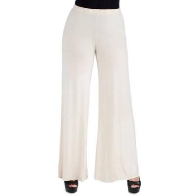 24セブンコンフォート レディース カジュアルパンツ ボトムス Women's Comfortable Solid Color Palazzo Pants
