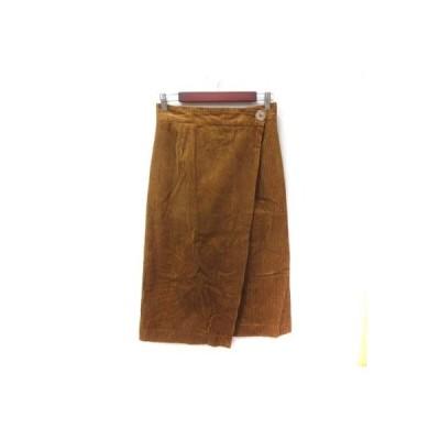 【中古】スライ SLY ラップスカート ロング フレア コーデュロイ 2 茶 ブラウン /YI レディース 【ベクトル 古着】
