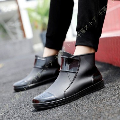 完全防水 メンズ ブーツ レインブーツ レインシューズ ラバーブーツ ショートブーツ アウトドア 防水 防滑 快適 雨靴 長靴 雨 雪 台風 カジュアル ショート