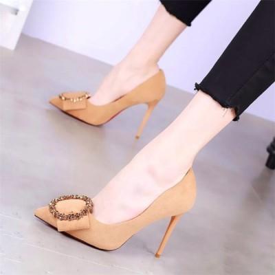ヒール10cm/サイズ22-24cm パンプス ピンヒール レディース シューズ ハイヒール ベーシック シンプル ファッション 靴 婦人靴