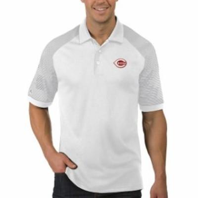 Antigua アンティグア スポーツ用品  Antigua Cincinnati Reds White/Gray Engage Polo