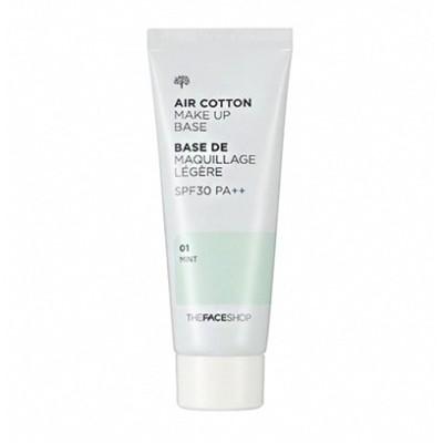 ザフェイスショップエアカーテンメーキャップベース40ml(01ミント02ラベンダー)The Face ShopAir Cotton MakeUp Base 40ml(01 Mint02 lavender)韓国コスメ