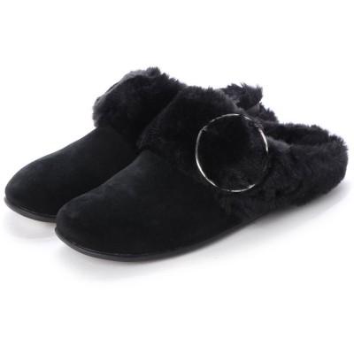 フィットフロップ fitflop TILDA BUCKLE SLIPPERS (All Black)