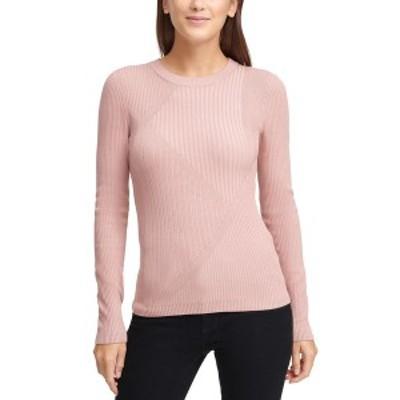 ダナ キャラン ニューヨーク レディース ニット&セーター アウター Striped Ribbed Asymmetrical Sweater Cream