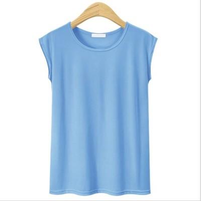 カットソー トップス ノースリーブ 無地 Tシャツ レディースファッション ファッション 着回し 女性服 カジュアルファッション シンプル ママファッション 春…