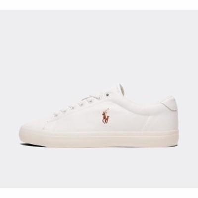 ラルフ ローレン Polo Ralph Lauren メンズ スニーカー シューズ・靴 longwood leather trainer White/White